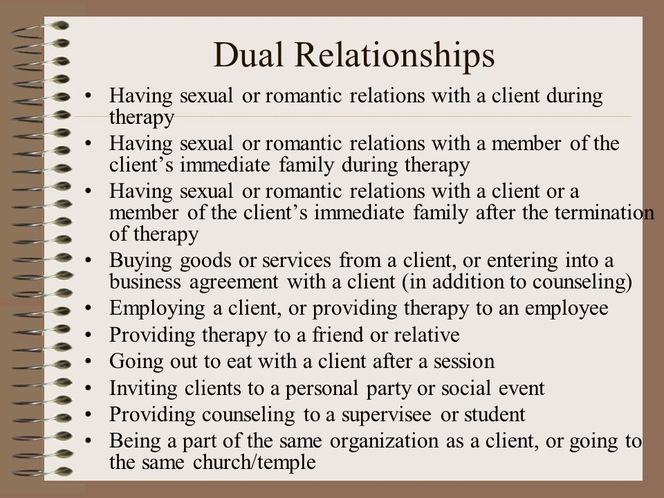 therapist and client romantic relationship