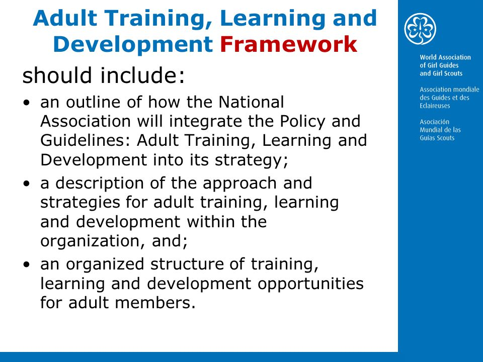 Adult Training, Learning and Development Framework