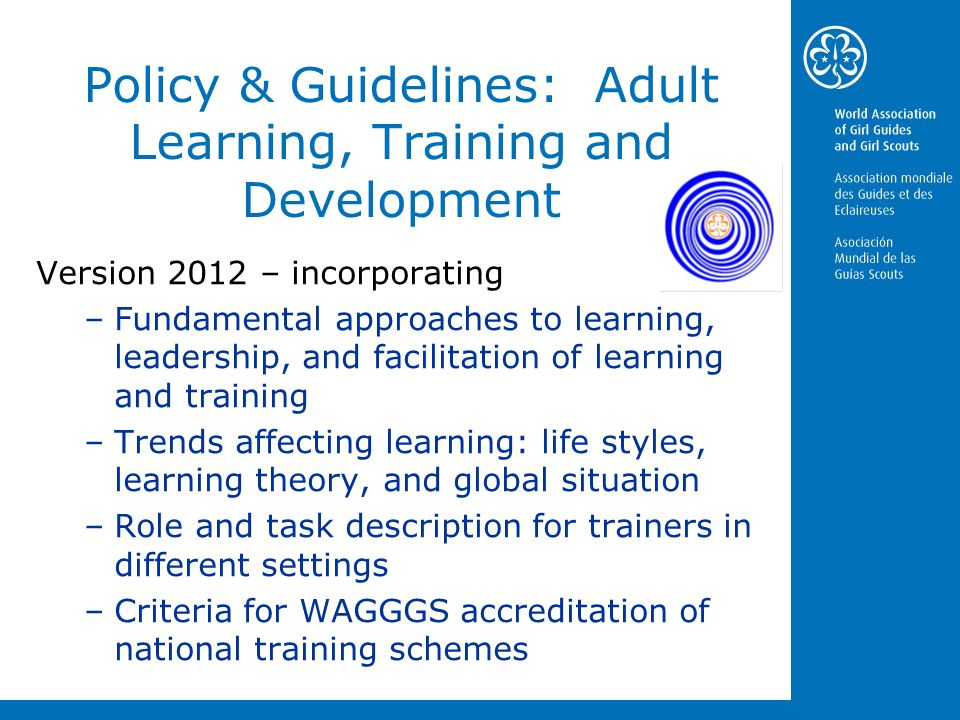Policy & Guidelines: Adult Learning, Training and Development