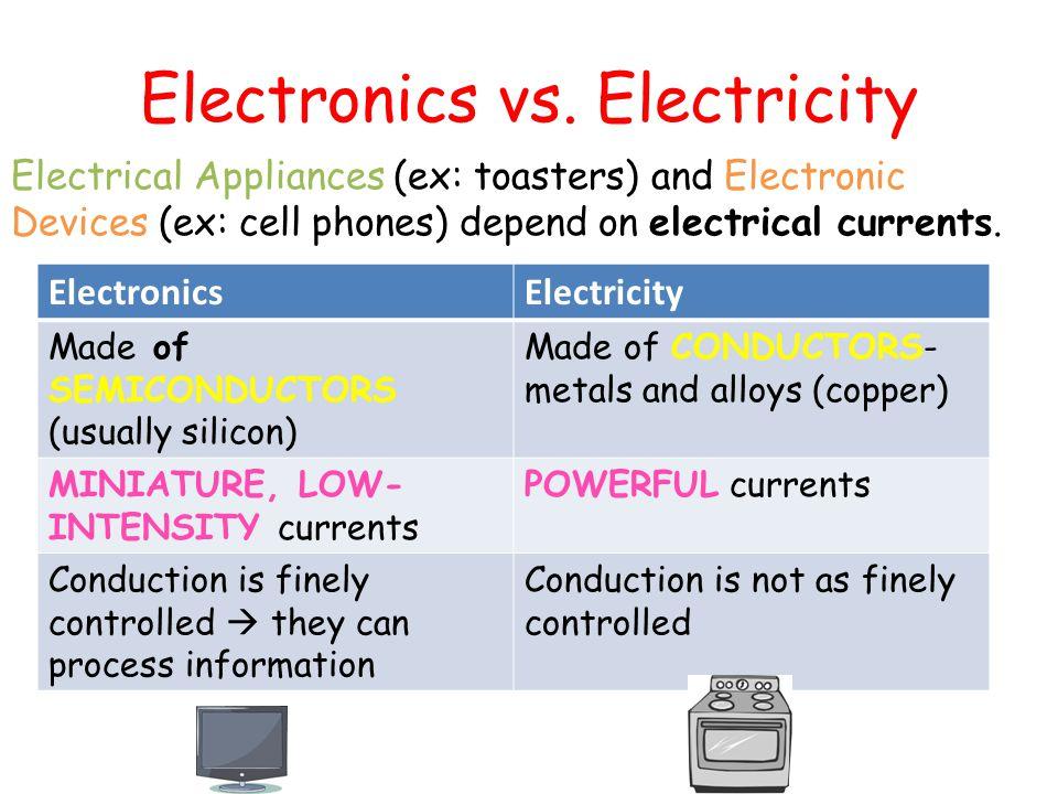Electronics Vs Electricity