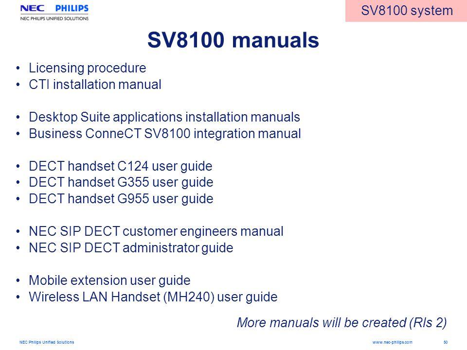 nec 8100 manual