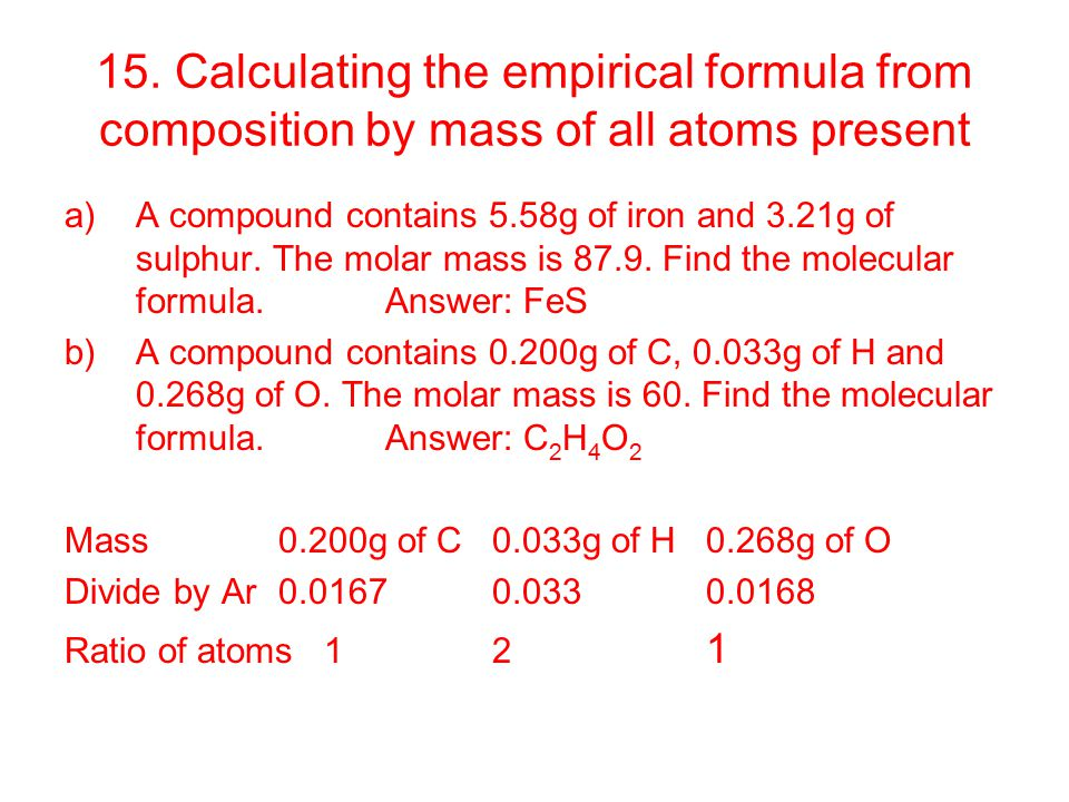 how to find the empirical formula for magnesium chloride
