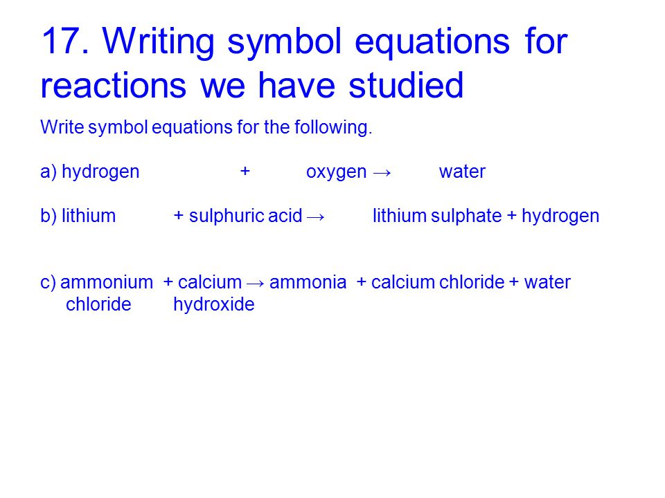 112 Moles And Equations This Powerpoint Contains The Questions And