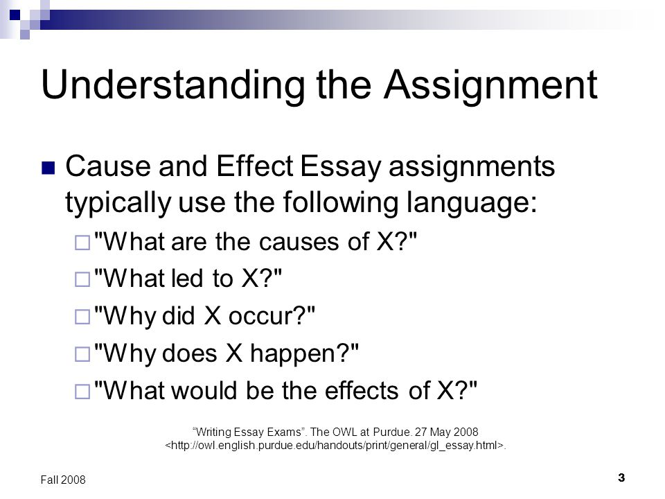 Essays On Science Understanding The Assignment English Essay Ideas also High School Persuasive Essay Examples Writing Cause And Effect Essays  Ppt Video Online Download High School Persuasive Essay
