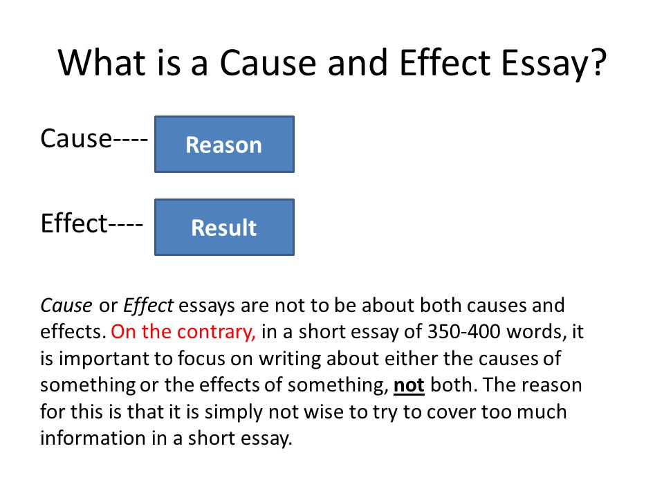 Cause and Effect Essay Advanced ESL  - ppt video online download