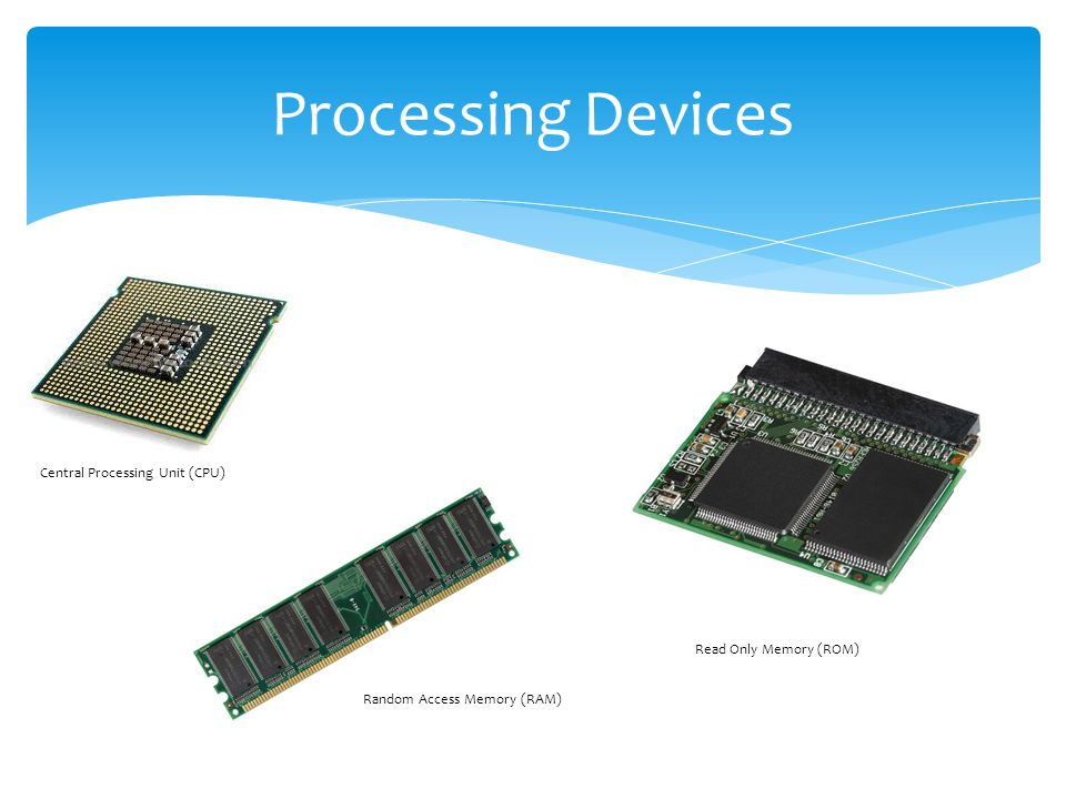 Processing Devices Central Processing Unit (CPU)