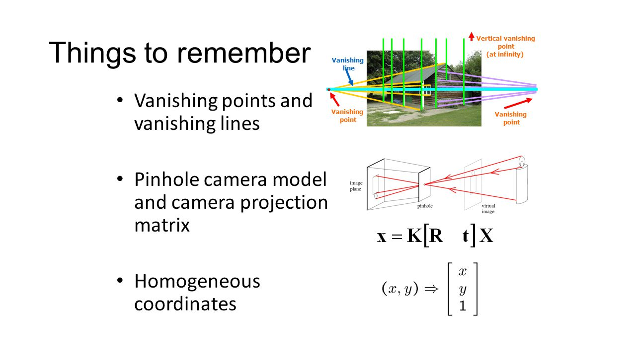 Eem 561 Machine Vision Week 10 Image Formation And Cameras Ppt Pinhole Camera Diagram 53 Things