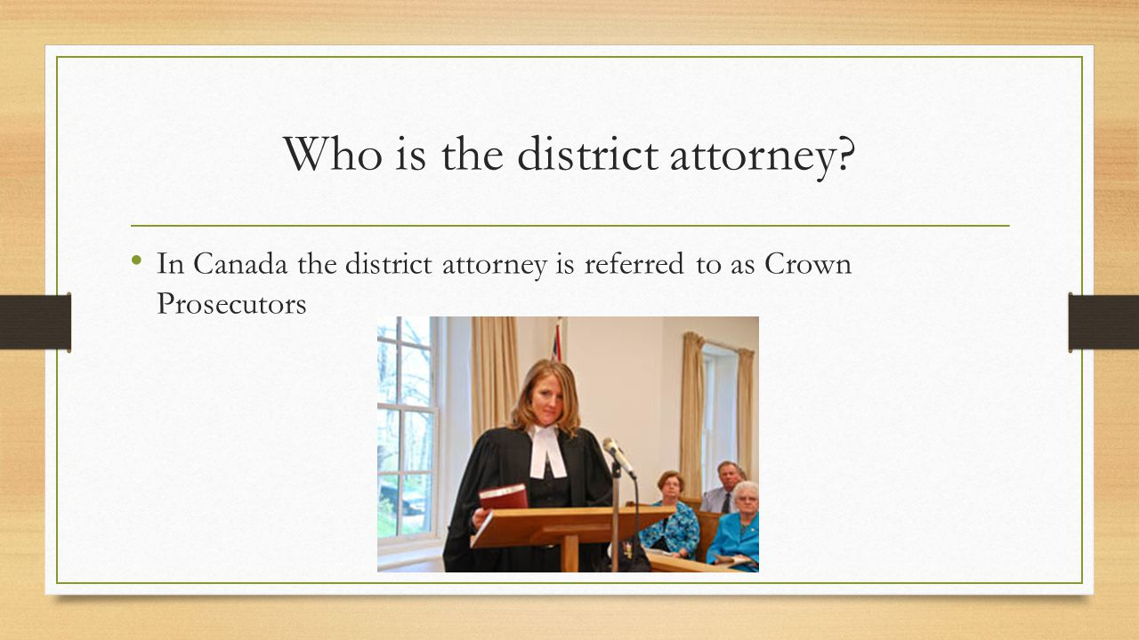 Who is the district attorney