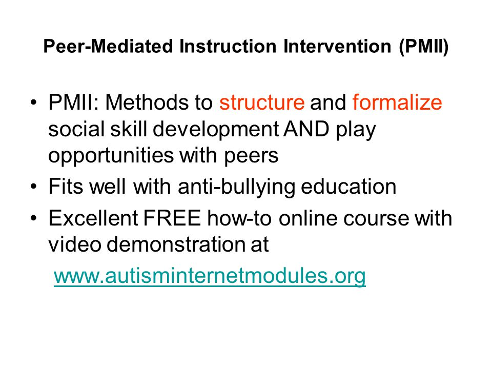 Social Skills Intervention Guidelines Evidence Options Ppt