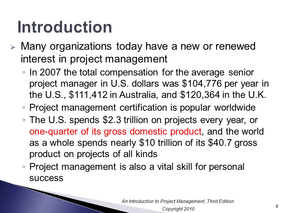 Chapter 1 An Introduction To Project Program And Portfolio