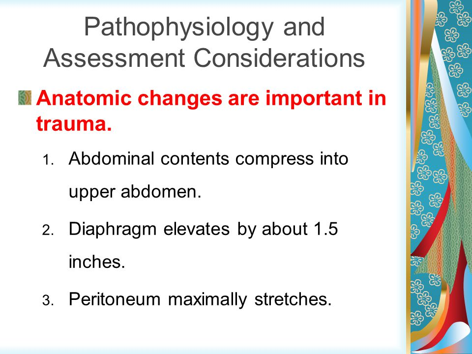 Pathophysiology and Assessment Considerations