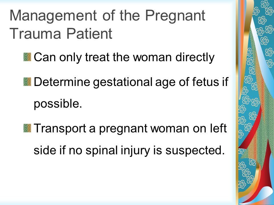 Management of the Pregnant Trauma Patient