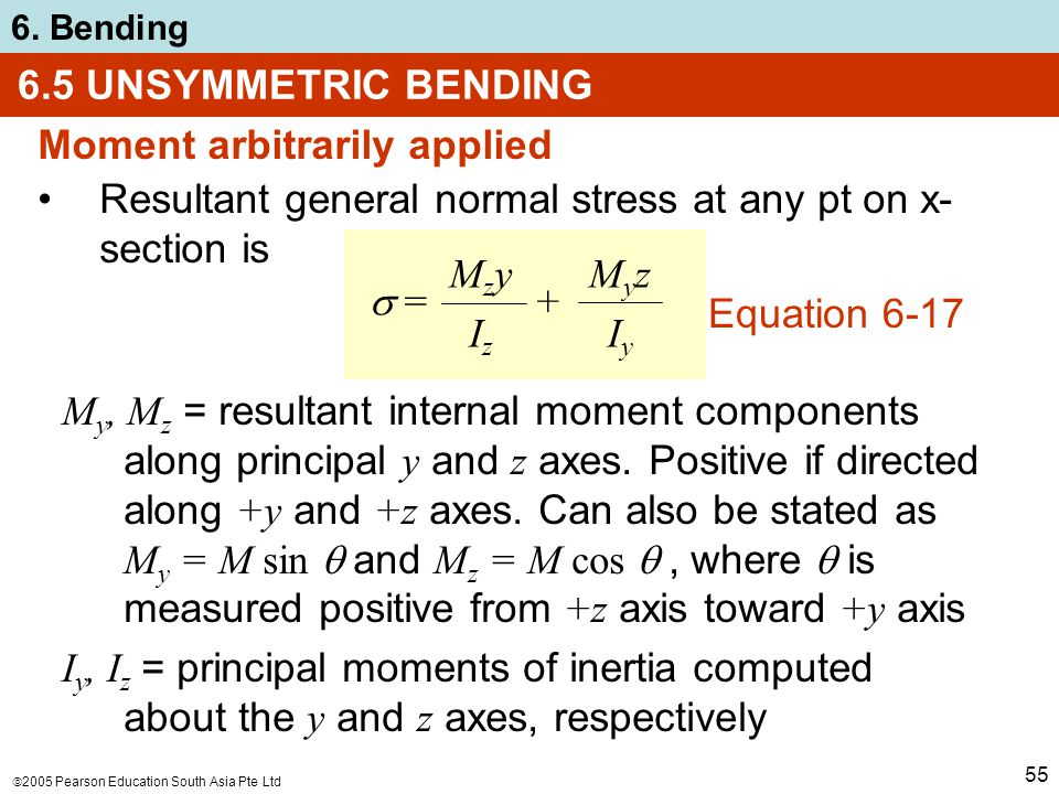 chapter objectives determine stress in members caused by bending