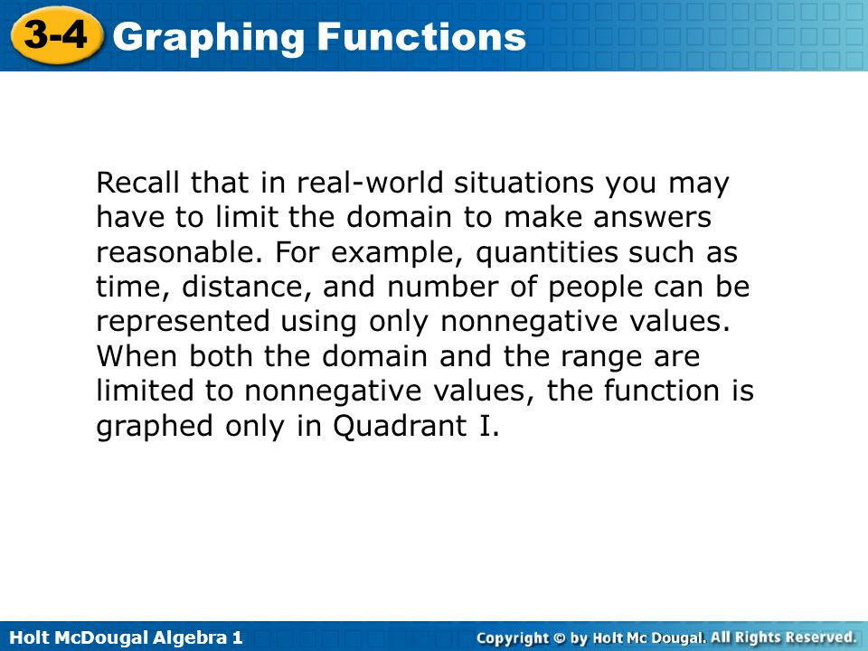 Objectives Graph functions given a limited domain  - ppt