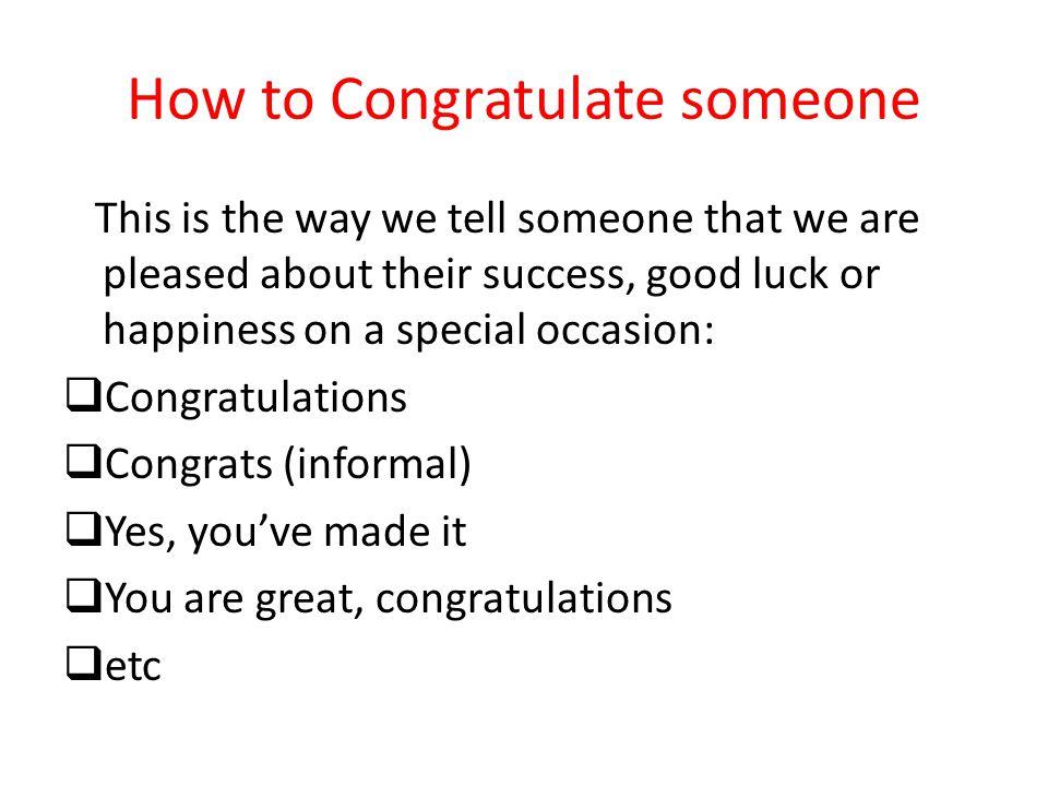 how to congratulate someone