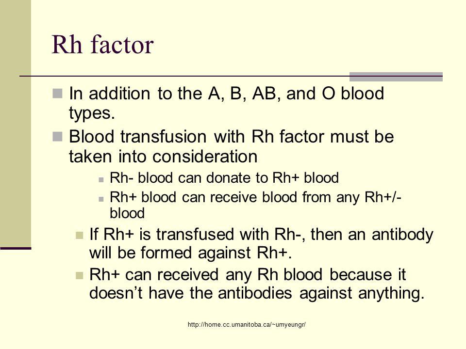 rh factor blood transfusion