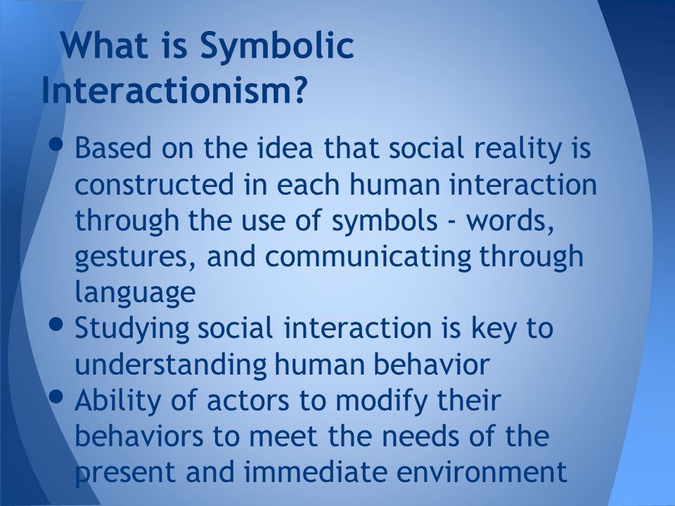 Symbolic Interactionism Ppt Download