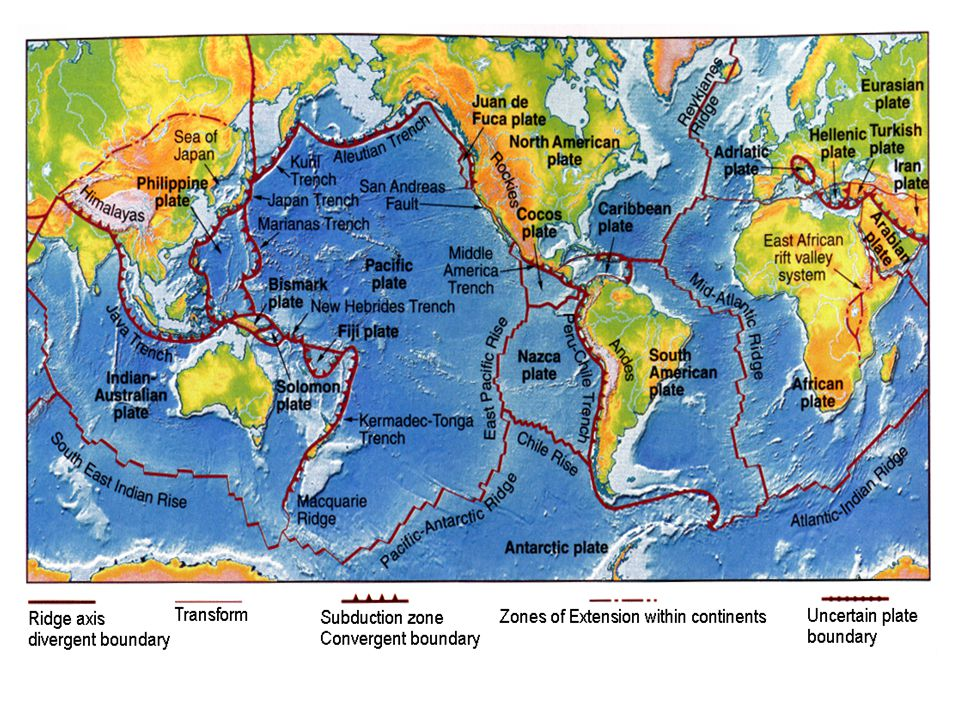 World Map Of Plate Boundaries.Map Of The Plate Boundaries Ppt Video Online Download
