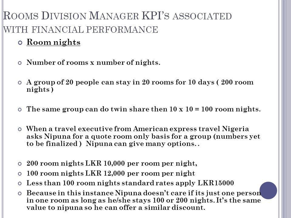 Rooms Division Operations Management - ppt video online download