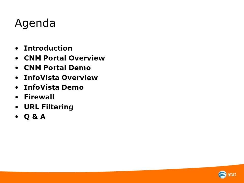 Agenda Introduction CNM Portal Overview CNM Portal Demo
