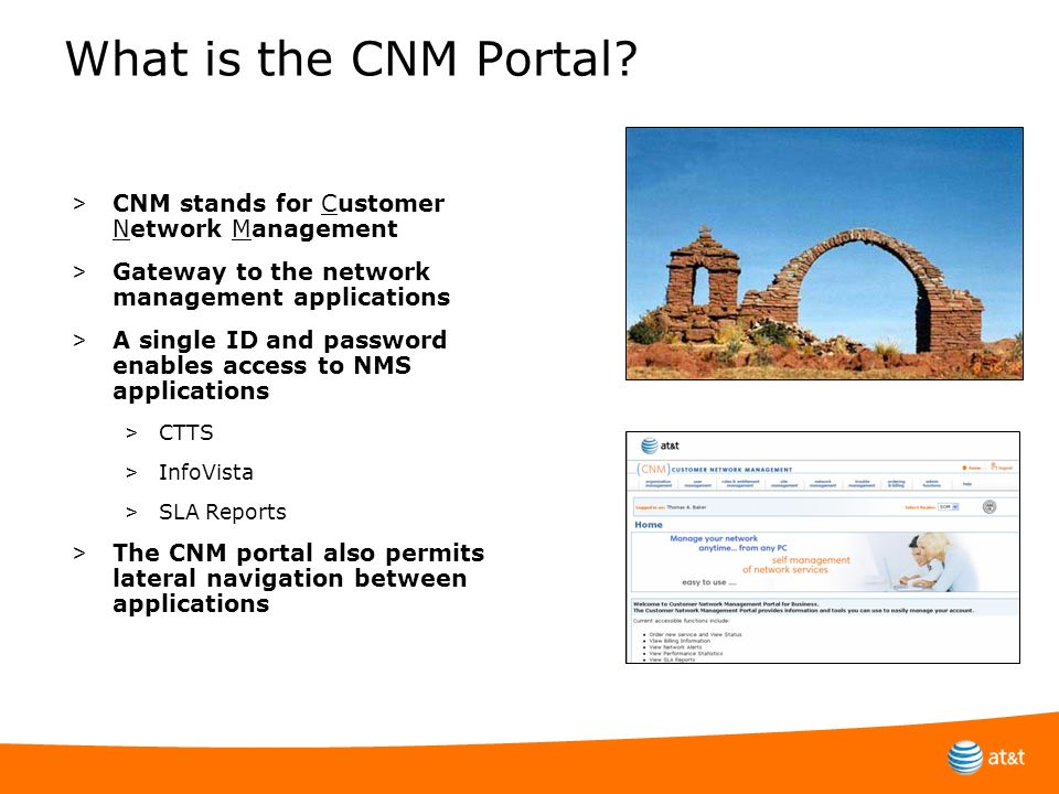 What is the CNM Portal CNM stands for Customer Network Management