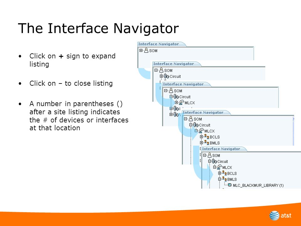 The Interface Navigator