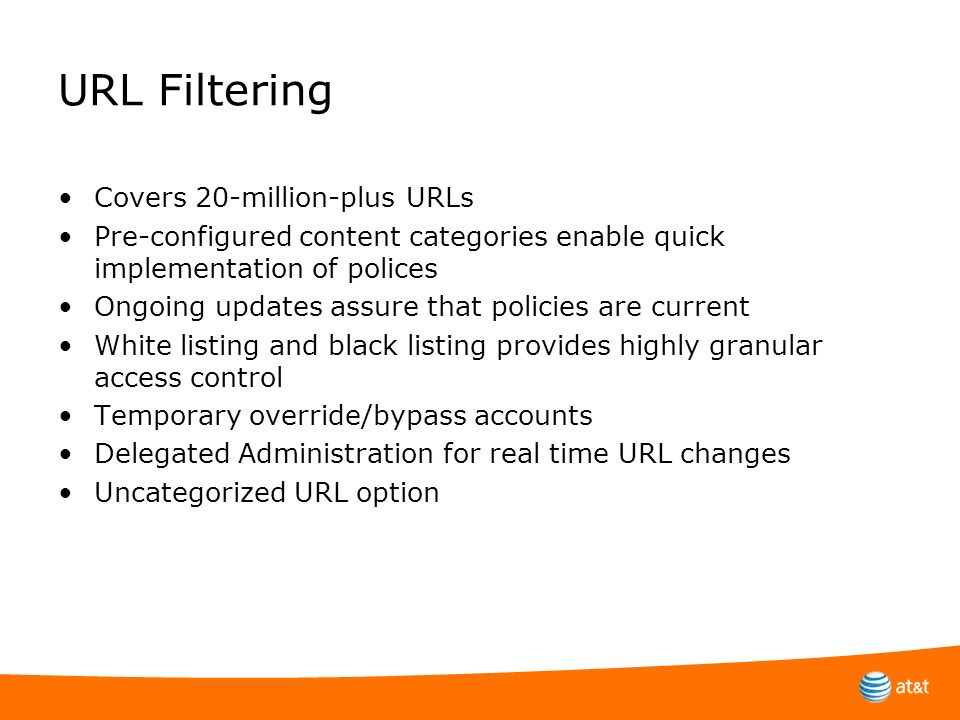URL Filtering Covers 20-million-plus URLs