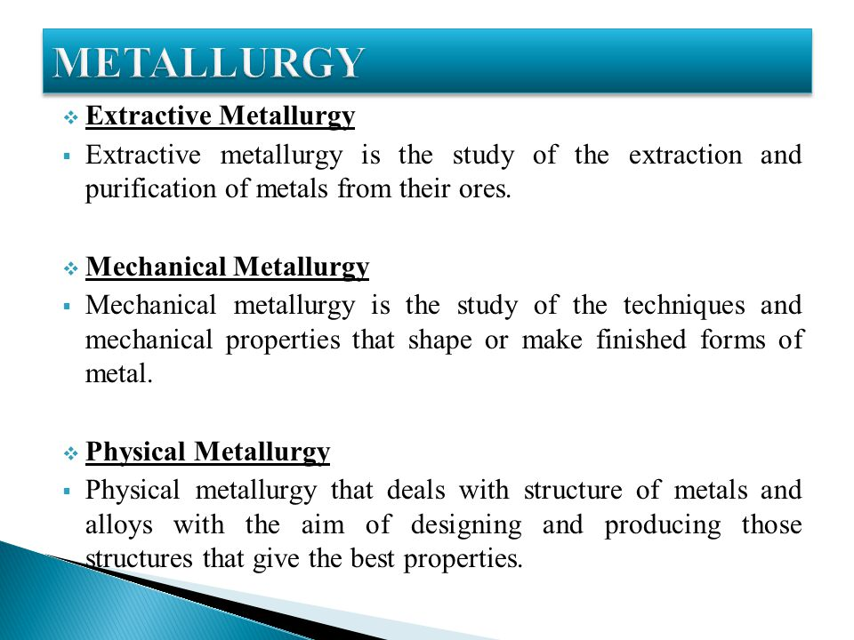 Material science & metallurgy.