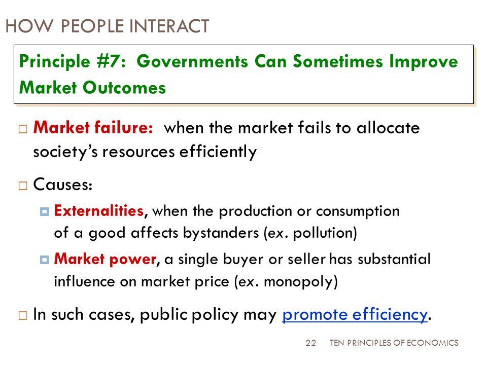 when markets fail public policy can