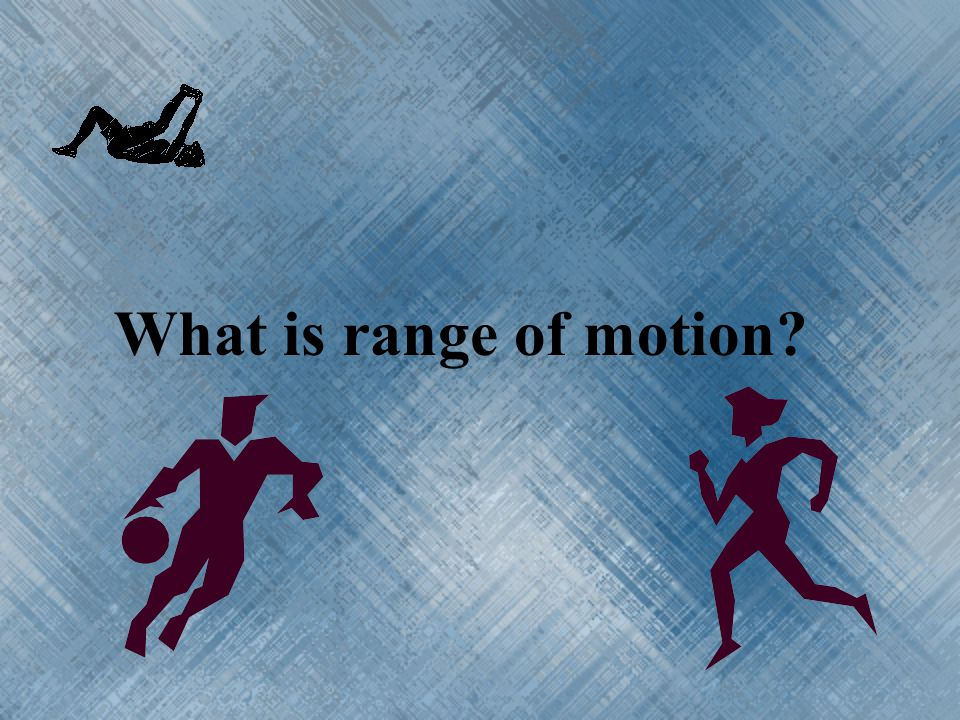 What is range of motion