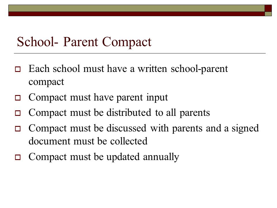 School- Parent Compact