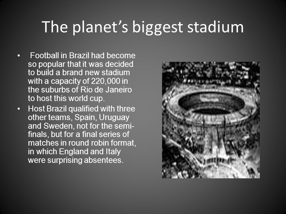 The planet's biggest stadium