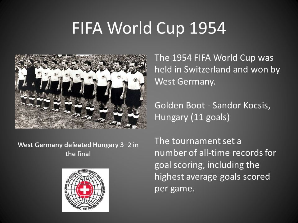 West Germany defeated Hungary 3–2 in the final