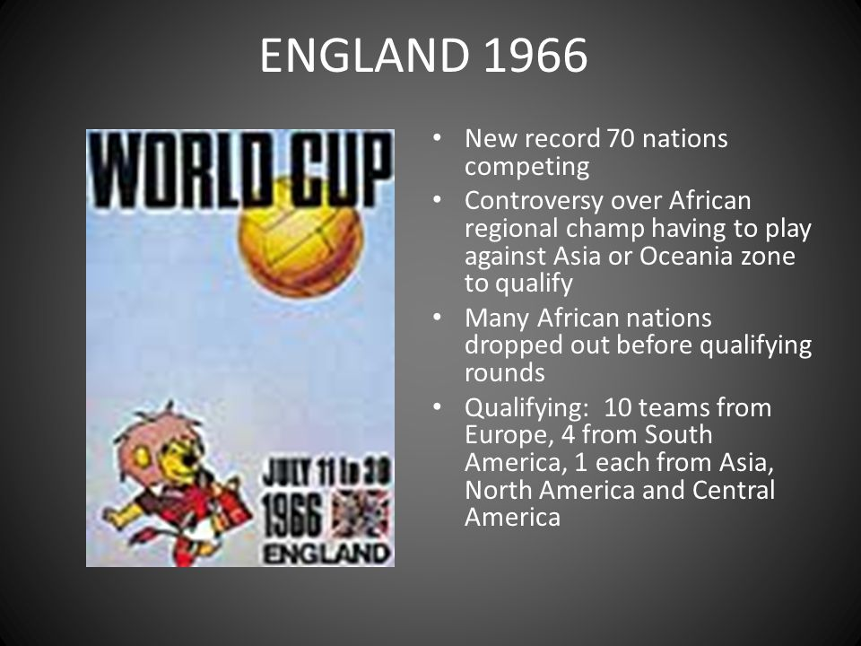 ENGLAND 1966 New record 70 nations competing
