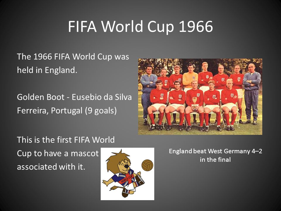 England beat West Germany 4–2 in the final