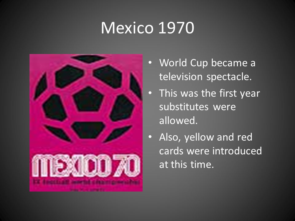 Mexico 1970 World Cup became a television spectacle.