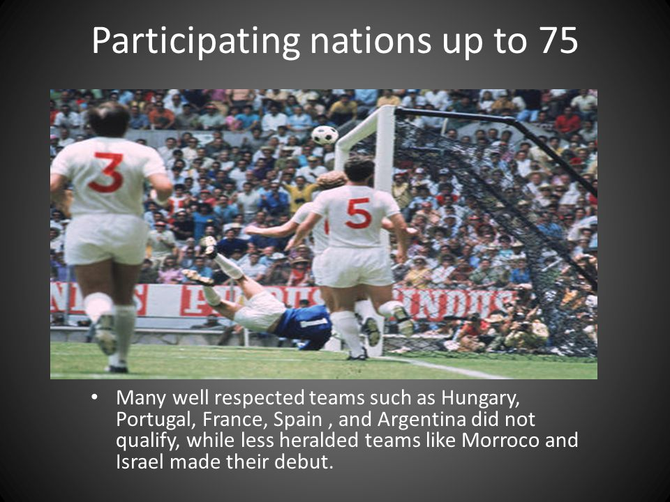 Participating nations up to 75