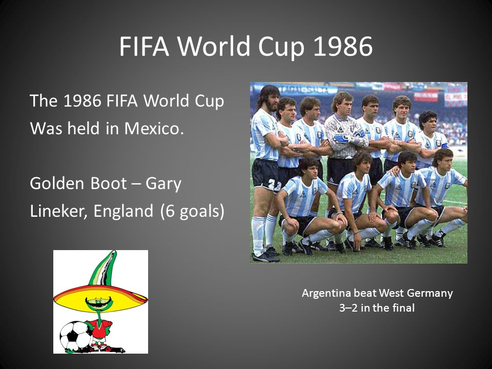 Argentina beat West Germany 3–2 in the final