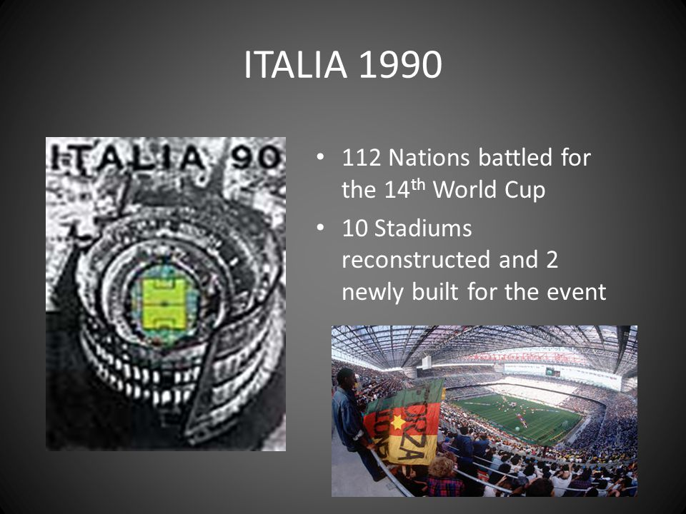 ITALIA 1990 112 Nations battled for the 14th World Cup