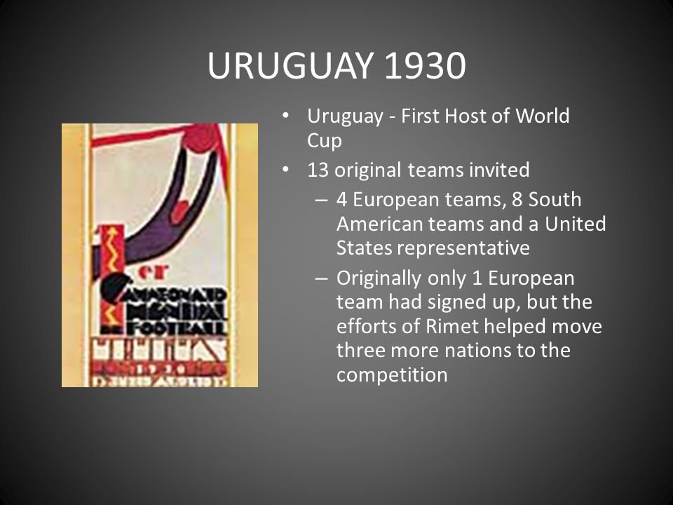 URUGUAY 1930 Uruguay - First Host of World Cup