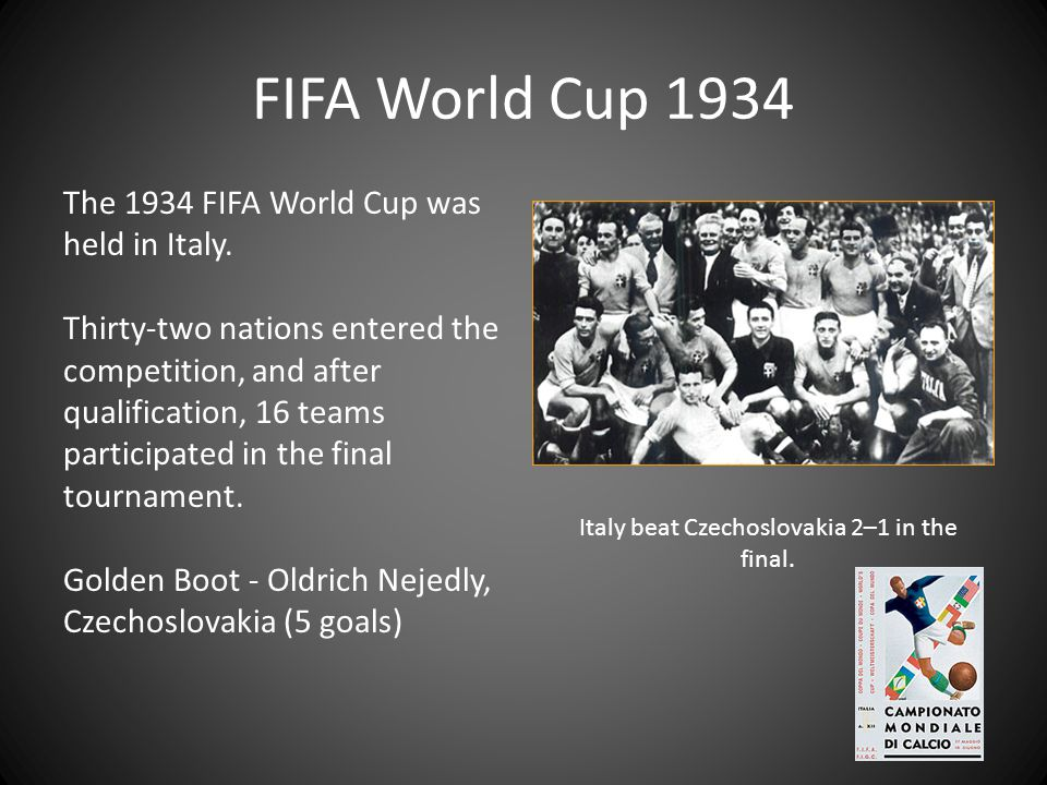 Italy beat Czechoslovakia 2–1 in the final.