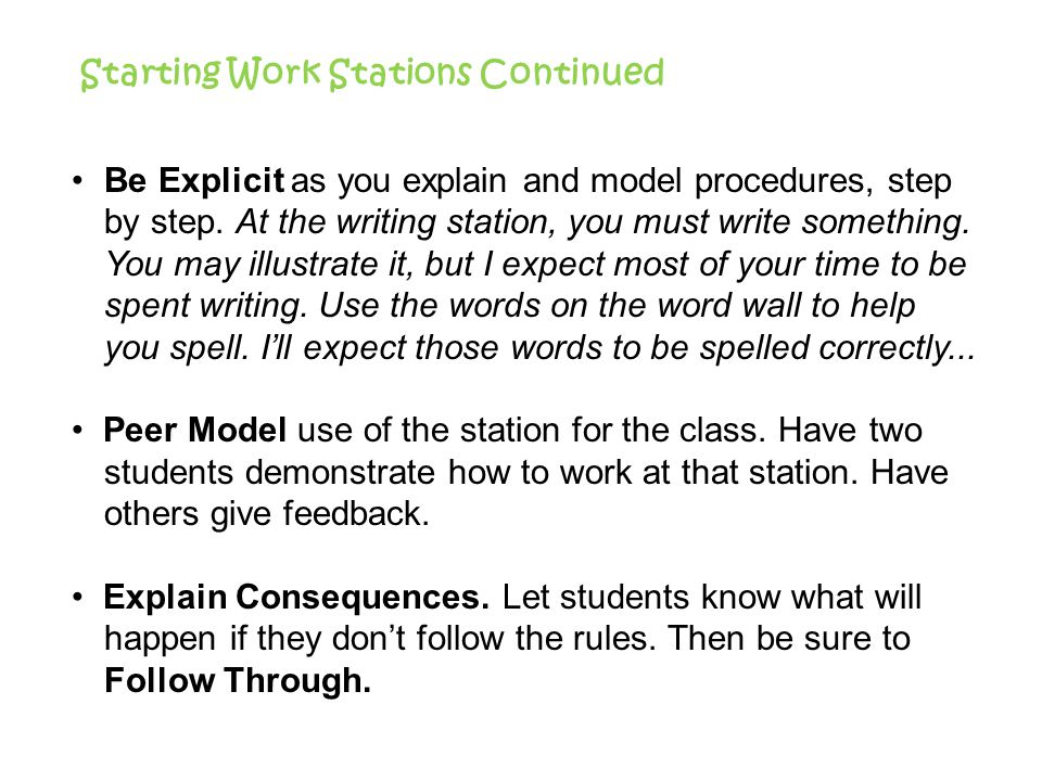 Literacy Work Stations - ppt video online download