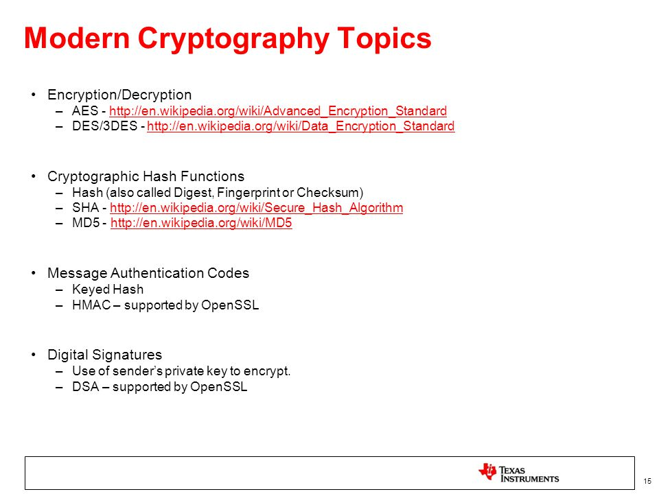 Linux Cryptography overview and How-to's using OpenSSL - ppt video