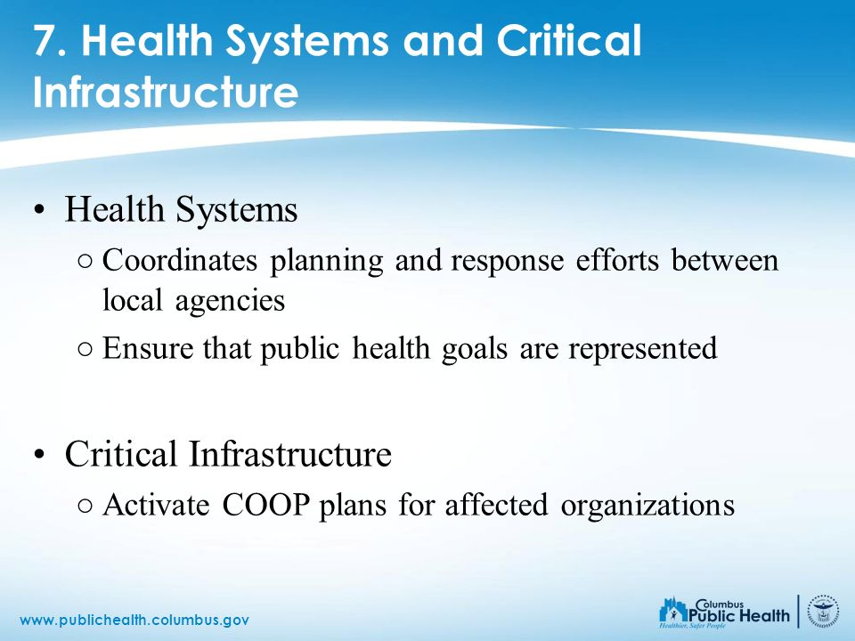 7. Health Systems and Critical Infrastructure