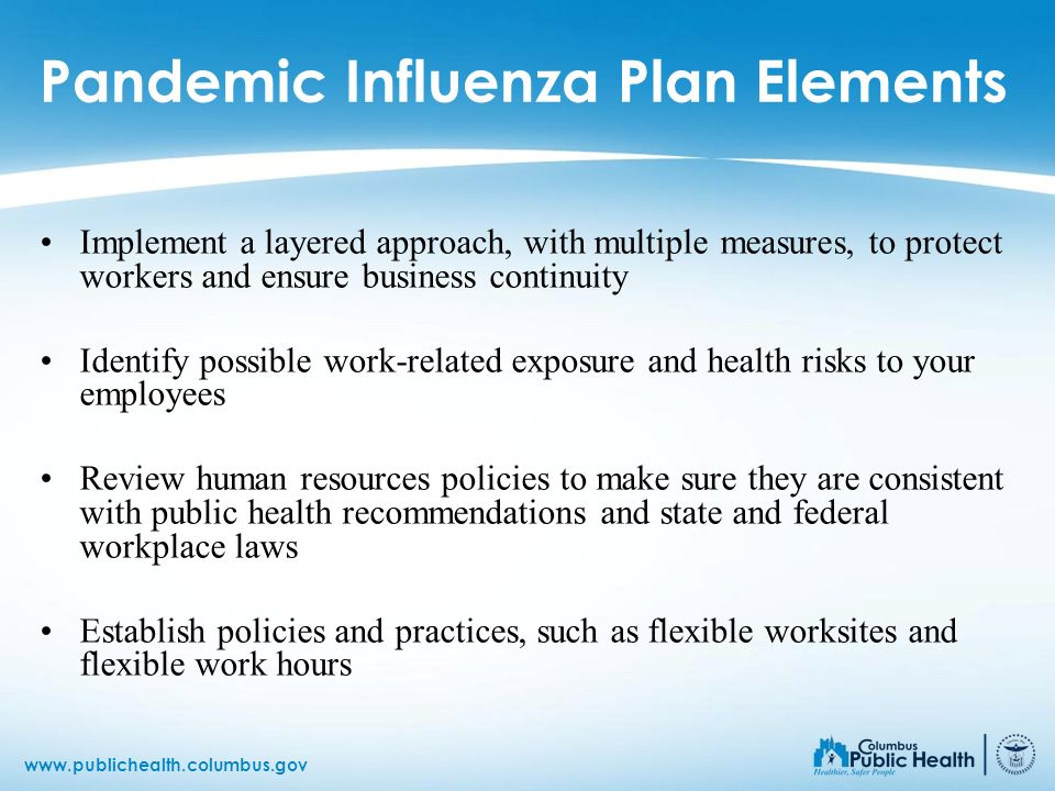Pandemic Influenza Plan Elements