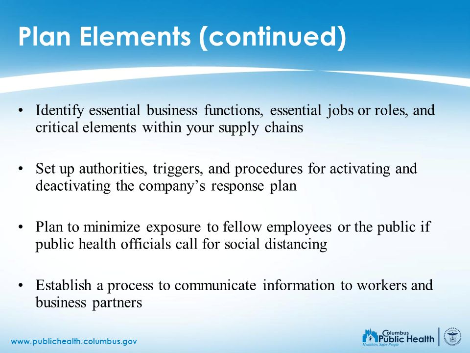 Plan Elements (continued)