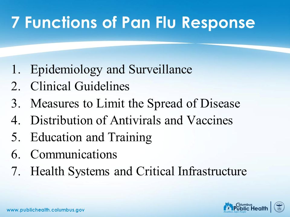 7 Functions of Pan Flu Response