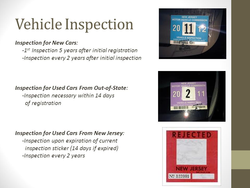 Vehicle Inspection Inspection for New Cars: