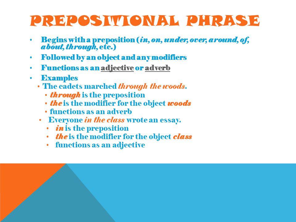 Noun phrase modifier.