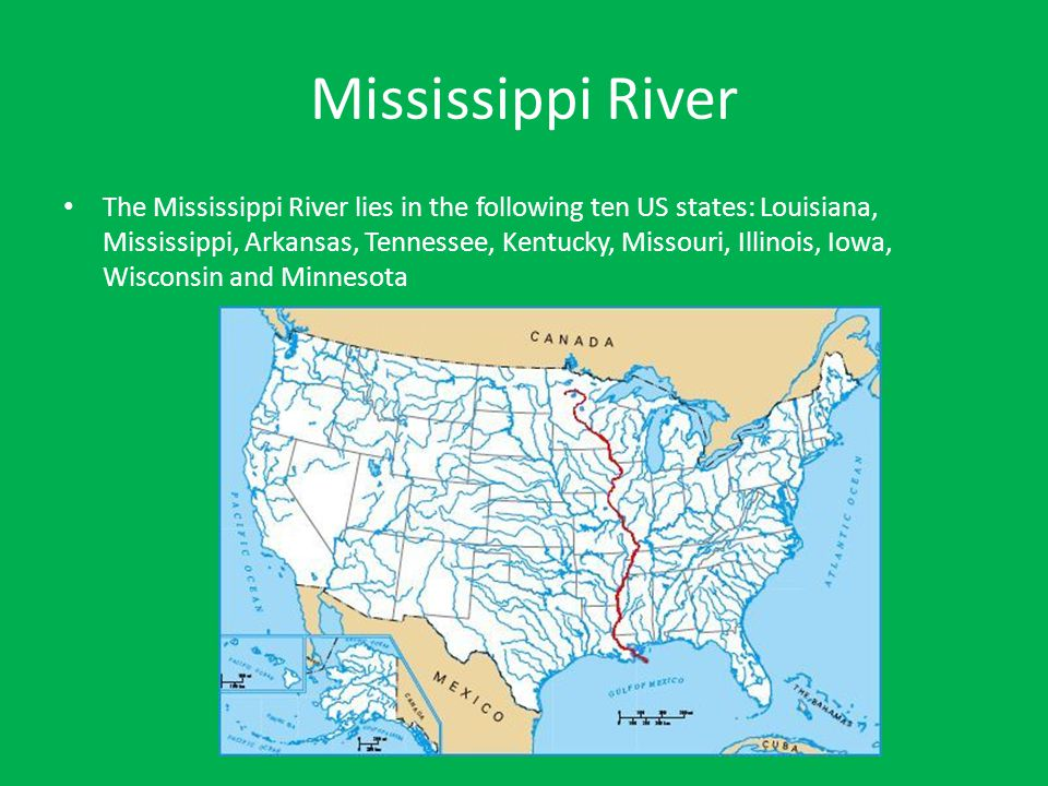 Major Mountain Ranges and Rivers of the United States - ppt ...